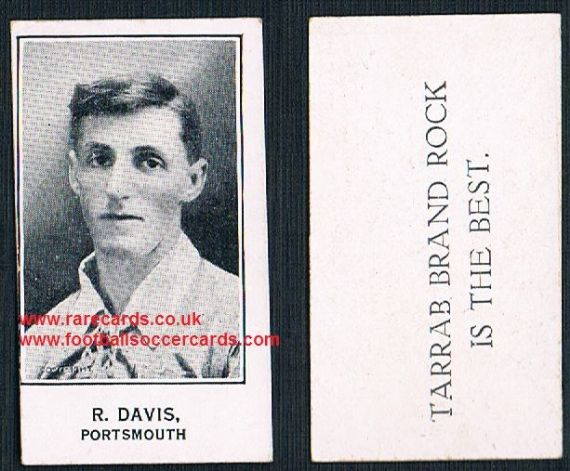 1926 R Davis Portsmouth Barratt's Tarrab Brand Rock card